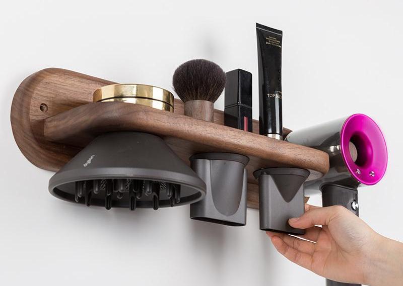 hairdryer holder with 2 storage compartments Ejoyous Hair dryer holder hairdryer holder cable holder Hair dryer holder